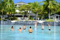 Water volleyball, billiards, and table tennis are some of the various leisure activities friends and families enjoy at Plantation Bay.